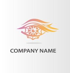 fiery logo vector image