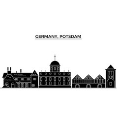 Germany potsdam architecture city skyline vector