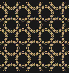 gold and black seamless pattern with circles vector image