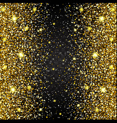 gold dust glitter for design vector image