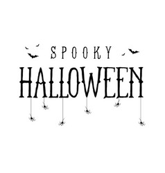 happy halloween template for banner vector image