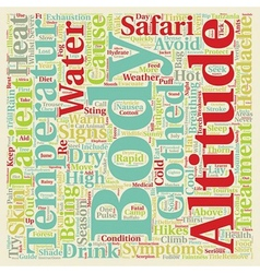 Health Issues Whilst On Safari text background vector