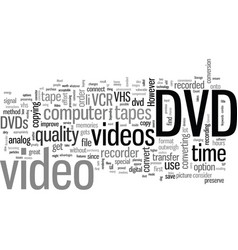 How to convert vhs to dvd with a dvd recorder vector