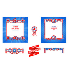 Independence day design set vector