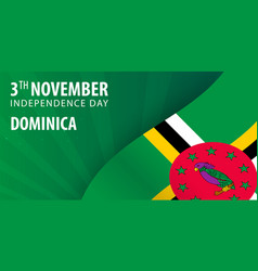 independence day of dominica flag and patriotic vector image