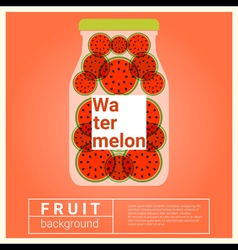 Infused water fruit recipe with watermelon vector image