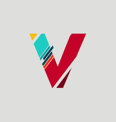 initials letter logo vector image