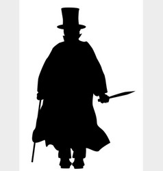 Jack the ripper silhouette vector