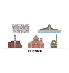 Kosovo pristina flat landmarks vector