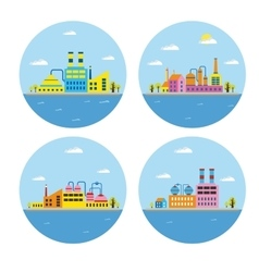 landscape of buildings vector image