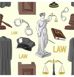 Law hand drawn pattern vector