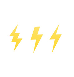 lightning bolts signs on white vector image