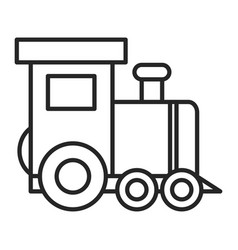 Little train toy entertainment icon vector