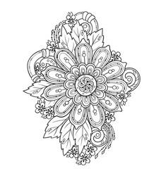Mandala doodle tattoo perfect element vector