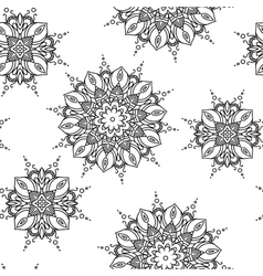 Mandala pattern Hand drawn ethnic decorative vector image