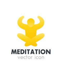 meditation icon logo element vector image