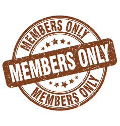 Members only vector