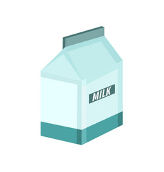Milky box breakfast graphic vector