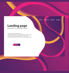 modern trendy landing page vector image