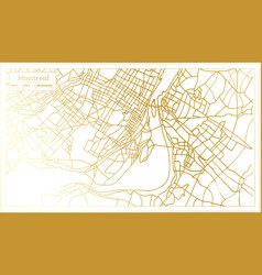 Montreal canada city map in retro style in golden vector