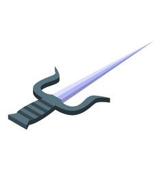 Ninja fork icon isometric style vector