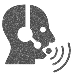 Operator Talking Sound Waves Grainy Texture Icon vector