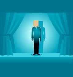 Paper bag head businessman vector