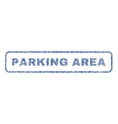 Parking area textile stamp vector