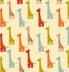pattern with giraffes vector image
