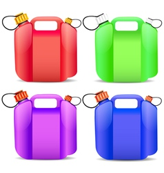 Plastic gasoline container vector