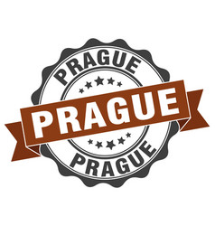 Prague round ribbon seal vector