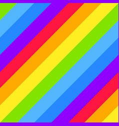 Rainbow pattern striped seamless background vector