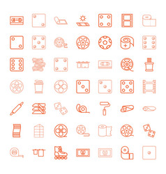 roll icons vector image