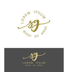 S g handdrawn brush monogram calligraphy logo vector