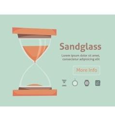 Sandglass icon eps 10 set clock vector