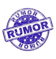 Scratched textured rumor stamp seal vector