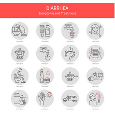 Set diarrhea icons vector