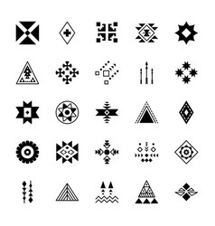 Set tribal icons collection vector