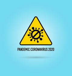 Sign stop epidemic coronavirus covind-19 vector