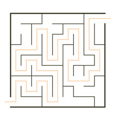 Simple maze vector