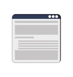single webpage icon vector image