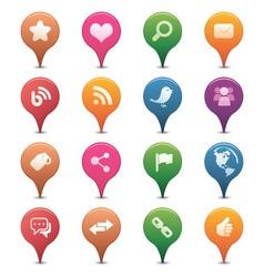 Social media pins vector