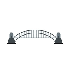 Sydney Harbour Bridge icon flat style vector image