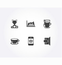 Tea infographic graph and winner podium icons vector