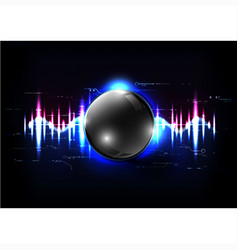 Technological global sound modern sphere abstract vector