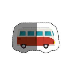 tourism van vehicle icon vector image