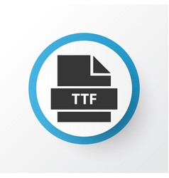 Ttf icon symbol premium quality isolated note vector