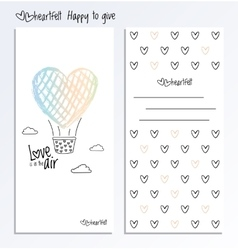 Valentines Day back and fron side card vector