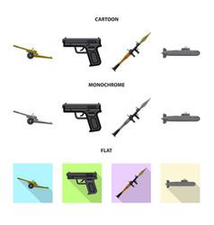 Weapon and gun icon vector