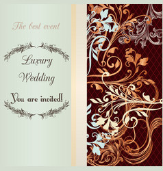 Wedding invitation soft and tender colors vector